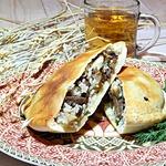 Пита с говядиной, рисом и грибами