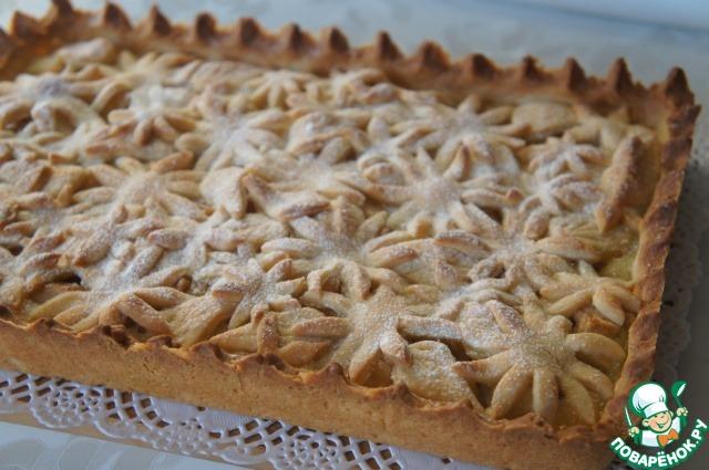 """Яблочный пирог """"Цветочная поляна"""" – кулинарный рецепт"""