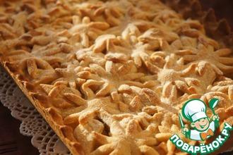 Рецепт: Яблочный пирог Цветочная поляна