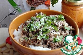 Рецепт: Рубленая говядина с кокосом по-тайски