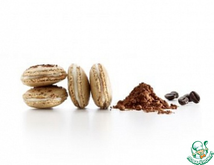 Рецепт: Пирожное Макарон из кофе