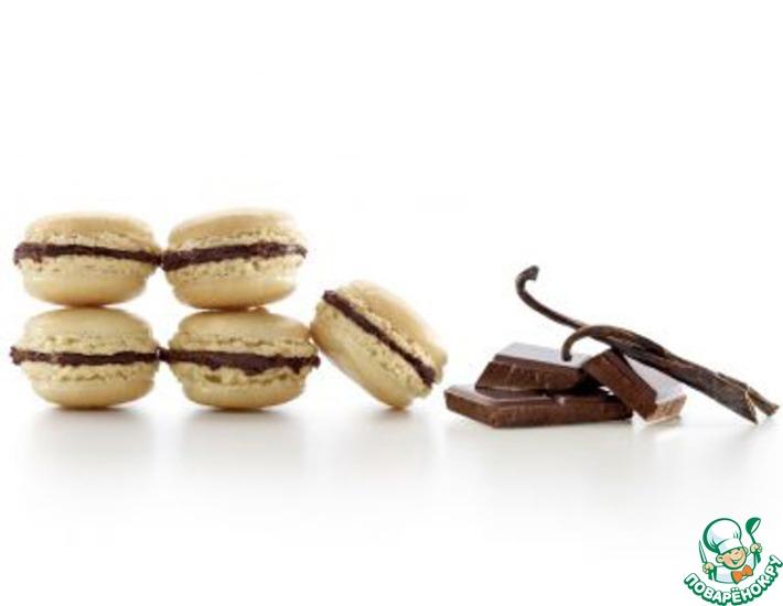 Рецепт: Пирожное Макарон с шоколадной начинкой
