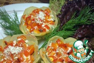 Рецепт: Картофельные корзиночки с куриным фаршем