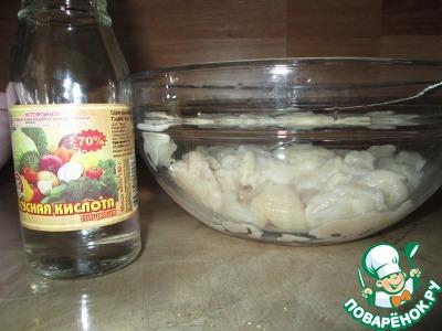 гребешок в горчичном соусе