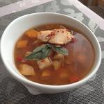 Лёгкий суп из трески с тыквой в мультиварке