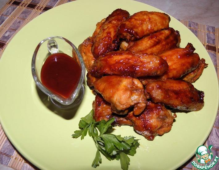 Рецепт: Куриные крылышки Медовые