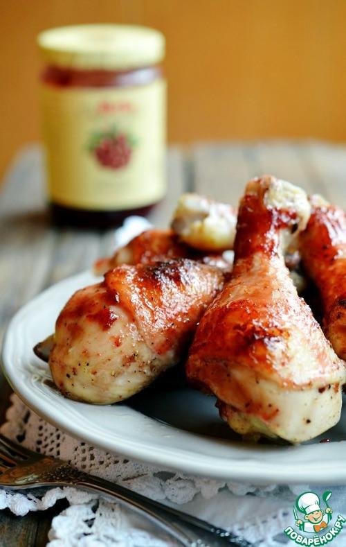 Глазированные куриные голени и рис по-кантонски – кулинарный рецепт
