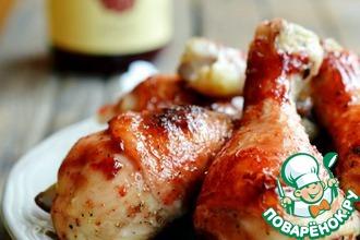 Рецепт: Глазированные куриные голени