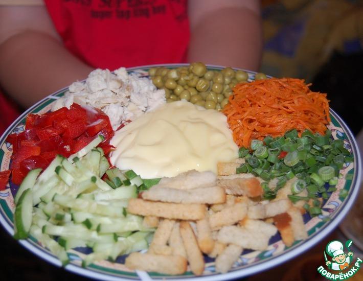 Рецепт: Салат Зайчик в огороде
