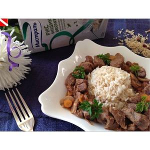 Быстрое рагу из телятины с рисом