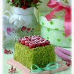 Пирожное Шпинат и малина