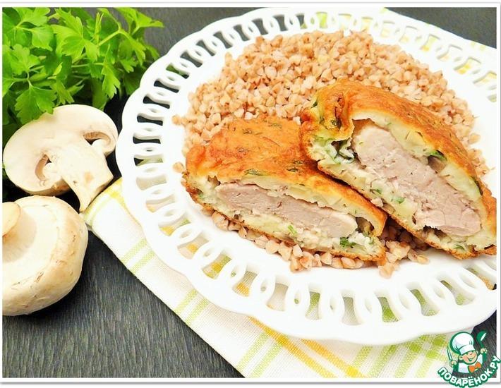 Рецепт: Свиные отбивные в грибном кляре