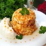 Рыбные мини-тортики с ароматным рисом