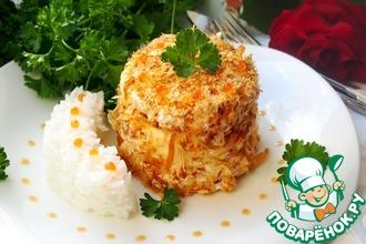 Рецепт: Рыбные пирожные с ароматным рисом