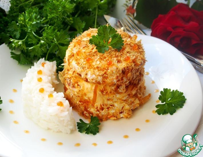 Рецепт: Рыбные мини-тортики с ароматным рисом