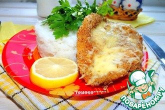 Рецепт: Рис с запеченной рыбой