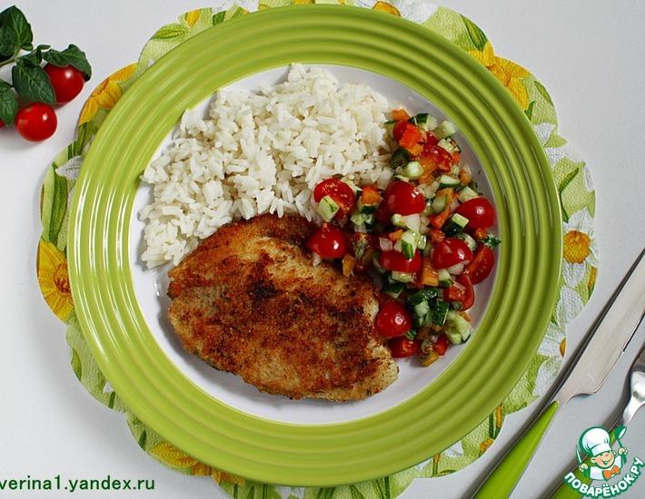 Рецепт: Жареная тилапия с овощной сальсой