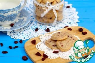 Рецепт: Ванильное печенье с клюквой