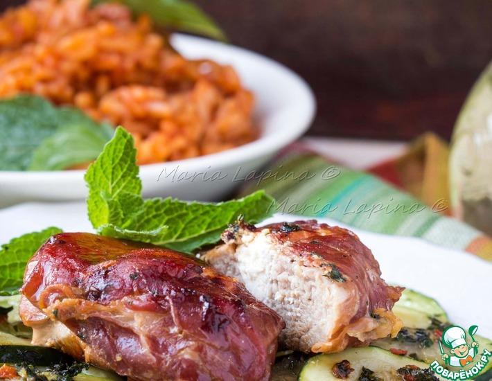 Рецепт: Свинина, фаршированная фетой