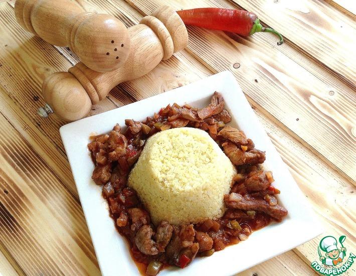 Рецепт: Свинина острая с соленым огурцом