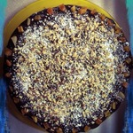 Торт Зебра с черносливом и манным кремом