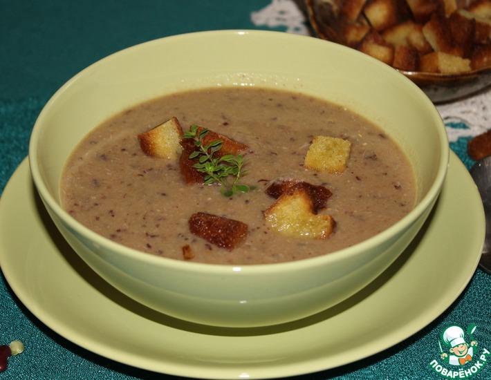 Рецепт: Суп-пюре из смеси бобовых с курицей
