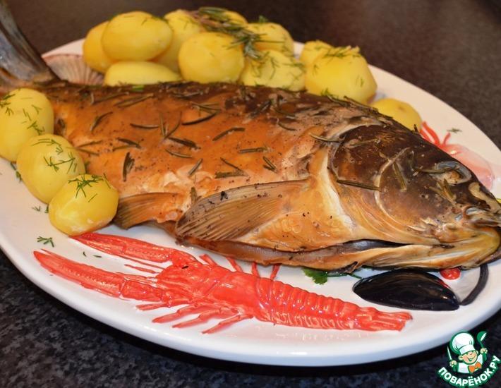 Рецепт: Копченая рыба и курица с розмарином, в домашних условиях