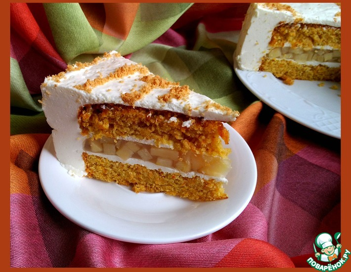 Рецепт: Торт Нежная осень