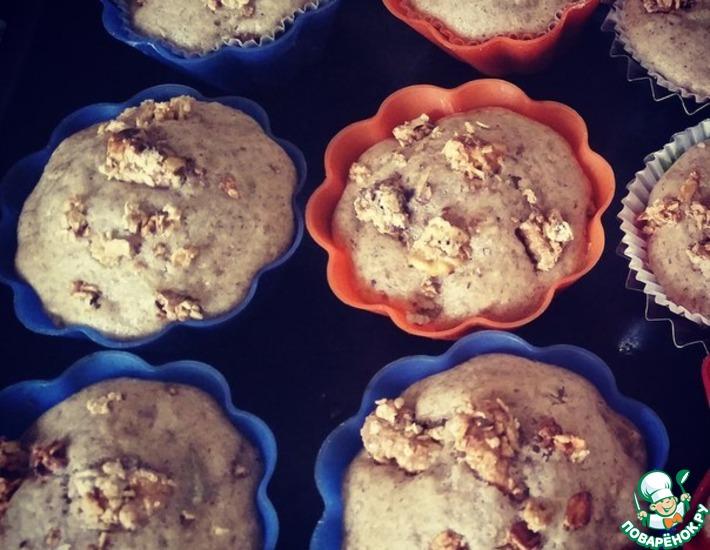 Рецепт: Маффины с грушей и гранолой