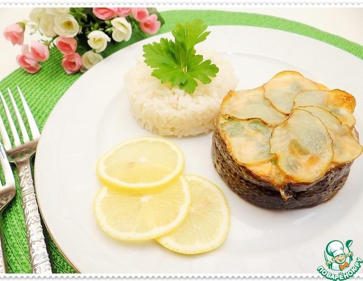 Медальоны из лосося с рисом на гарнир
