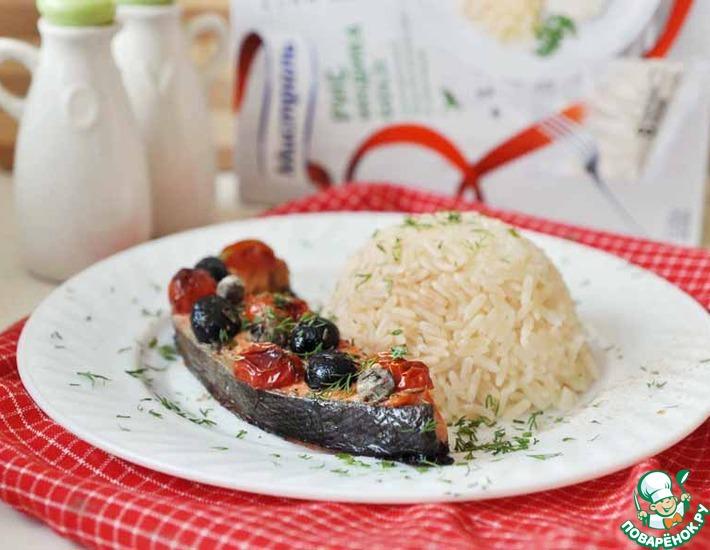 Рецепт: Рыба, запеченная с овощами
