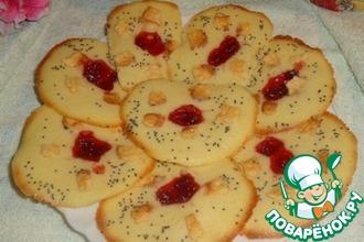 Рецепт: Печенье Аленький цветочек