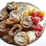 Греческое постное печенье с лукумом
