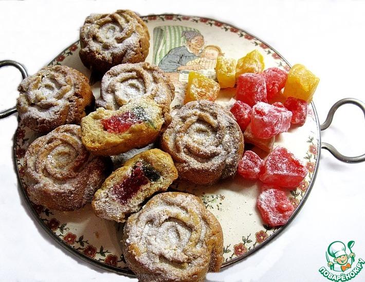 Рецепт: Греческое постное печенье с лукумом