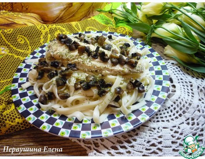 Рецепт: Камбала под сырным соусом