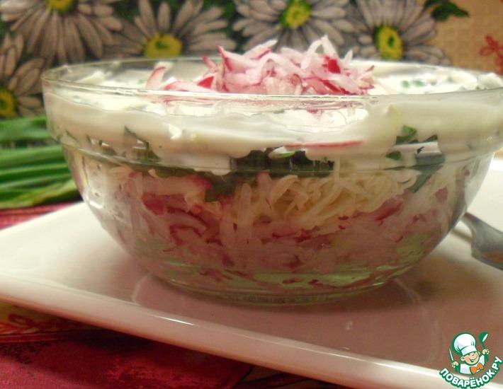 Рецепт: Салат с редисом