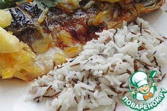 Рецепт: Скумбрия в мармеладной глазури с яблоками