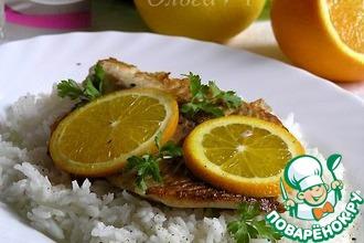 Рецепт: Тилапия с апельсином и рисом