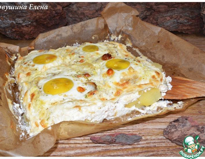 Рецепт: Картофельная запеканка с яйцами Буланжер