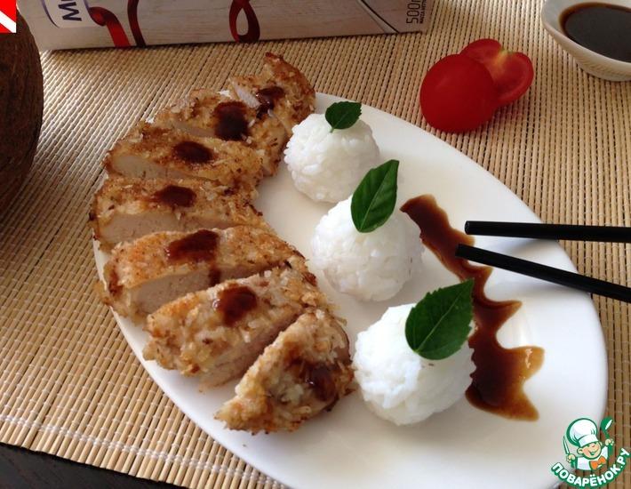 Рецепт: Торикацу с гарниром из риса