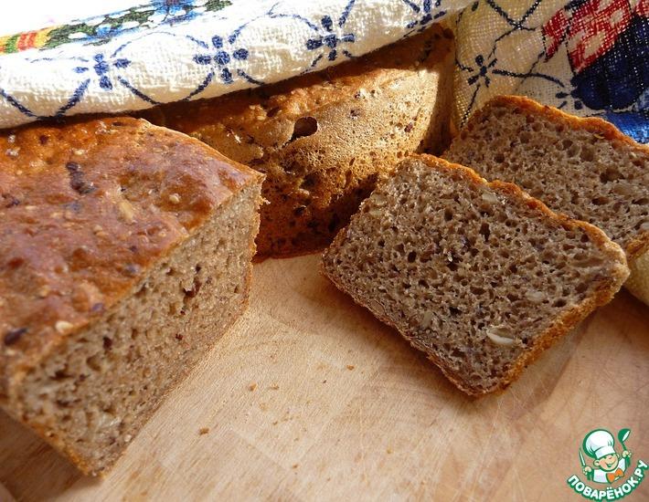 Рецепт: Ароматный ржаной хлеб на закваске
