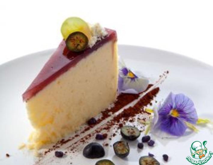 Рецепт: Сырное пирожное с черникой