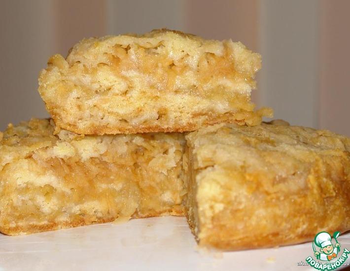 Рецепт: Пирог Яблочный спас из сухого теста