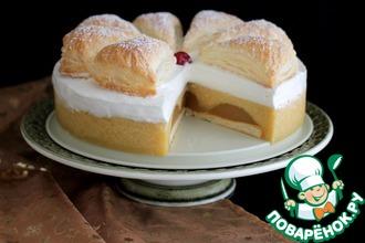 Рецепт: Торт Яблочнo-муссовый
