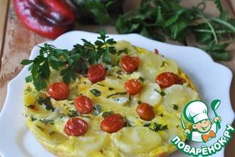 Рецепт: Фриттата с картофелем и овощами в мультиварке