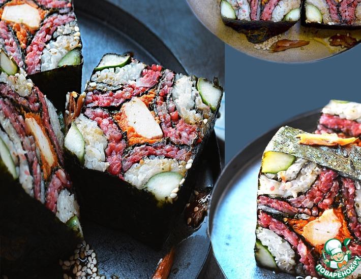 Рецепт: Суши Мозаика