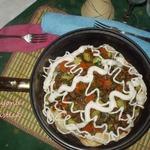 Тёплый салат на лаваше Нежность на двоих