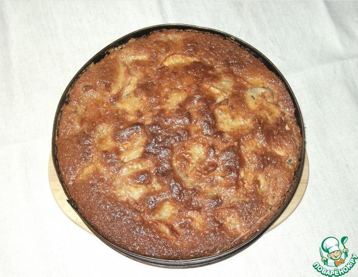 Рецепт: Пирог Яблочный заливной