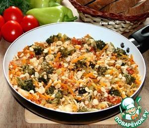 Рецепт Овощное рагу с киноа и рыбой