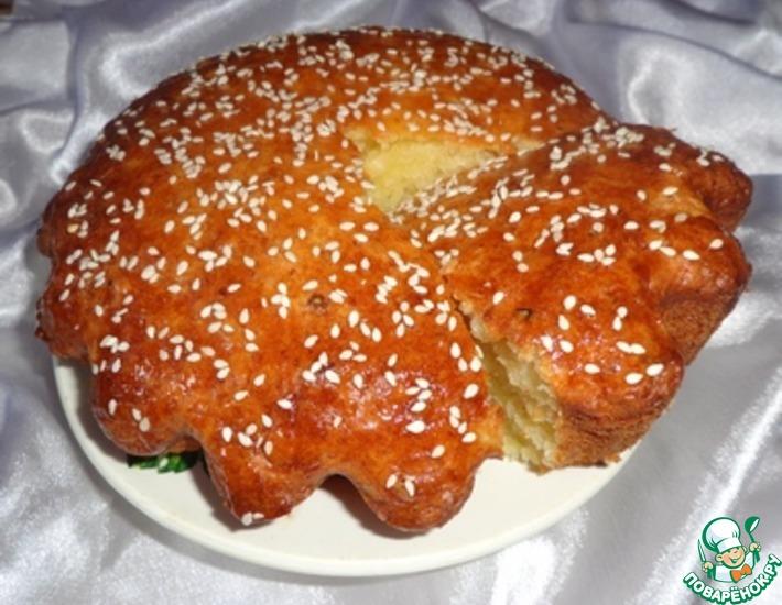 Рецепт: Творожный кекс с медовым ароматом и рисовыми хлопьями